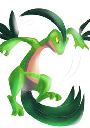 9. Grovyle attack