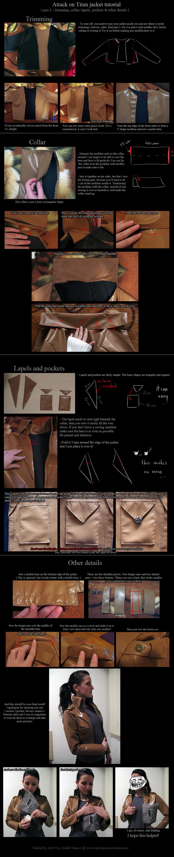 Attack on Titan jacket tutorial - details.