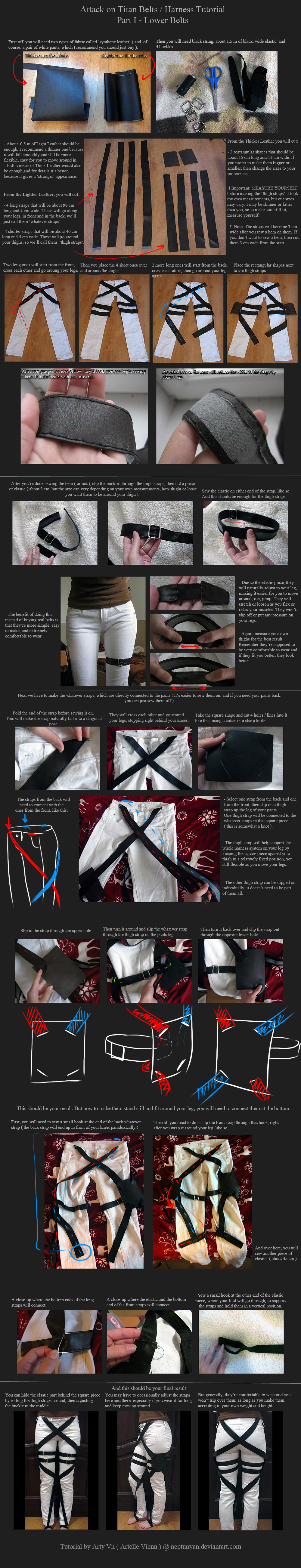Attack on Titan Belts / Harness Tutorial - Part 1