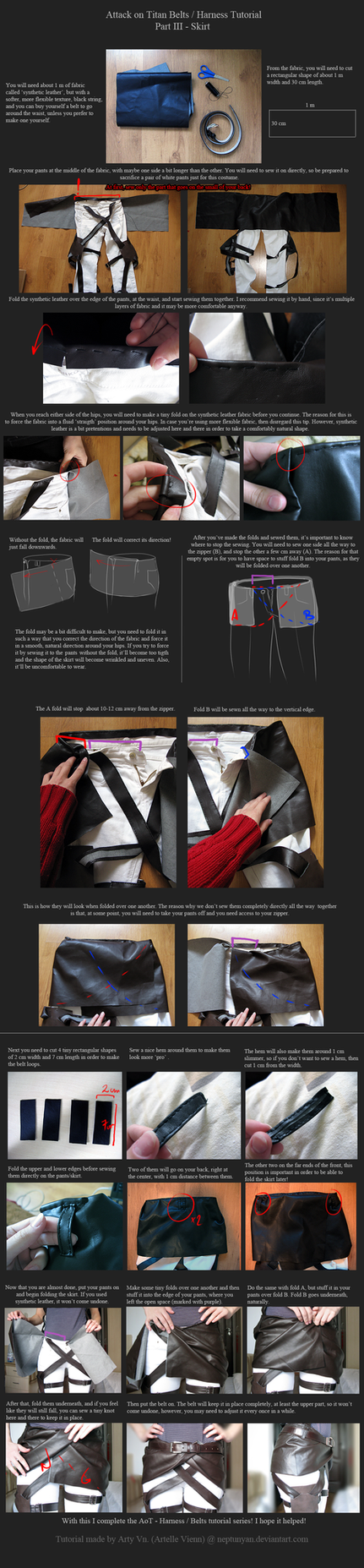 AoT Belts/Harness Tutorial - Part III - Skirt by neptunyan