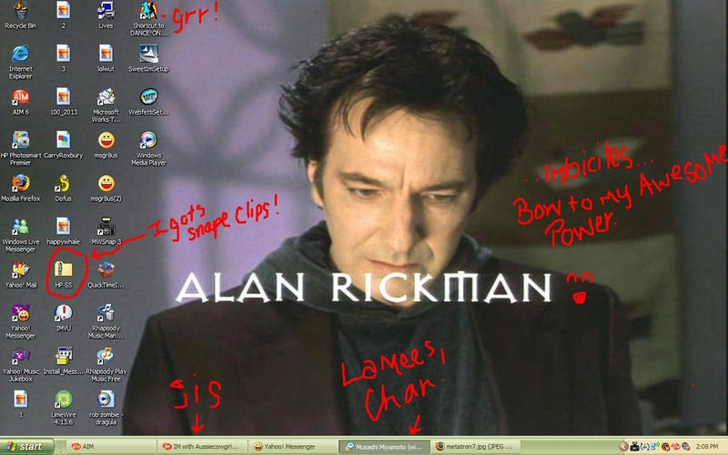 alan rickman metatron. Alan Rickman Desktop by