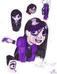 Gothic Violet sketches