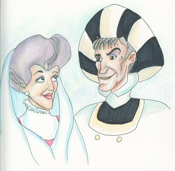 Lady Tremaine x Judge Frollo by flashatasha