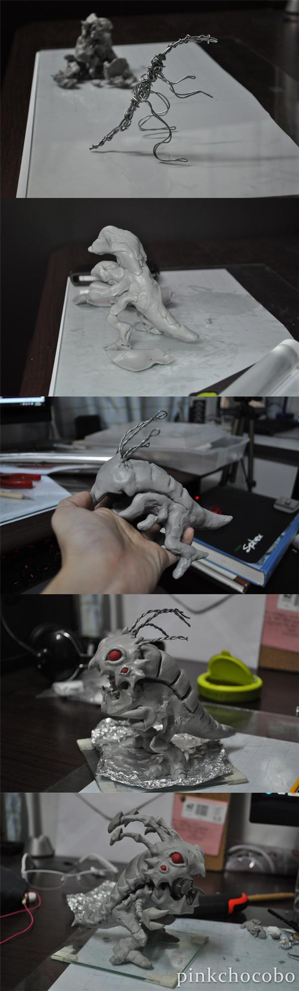 Kog'maw Sculpture WIP by chinggay