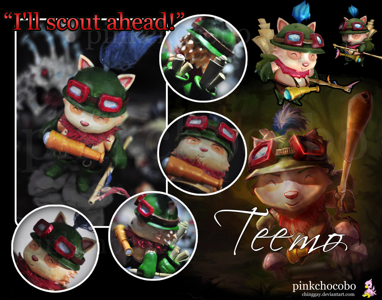 Teemo Clay Sculpture by chinggay