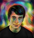 Colored Self Portrait