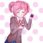Natsuki from Doki Doki Literature Club!!