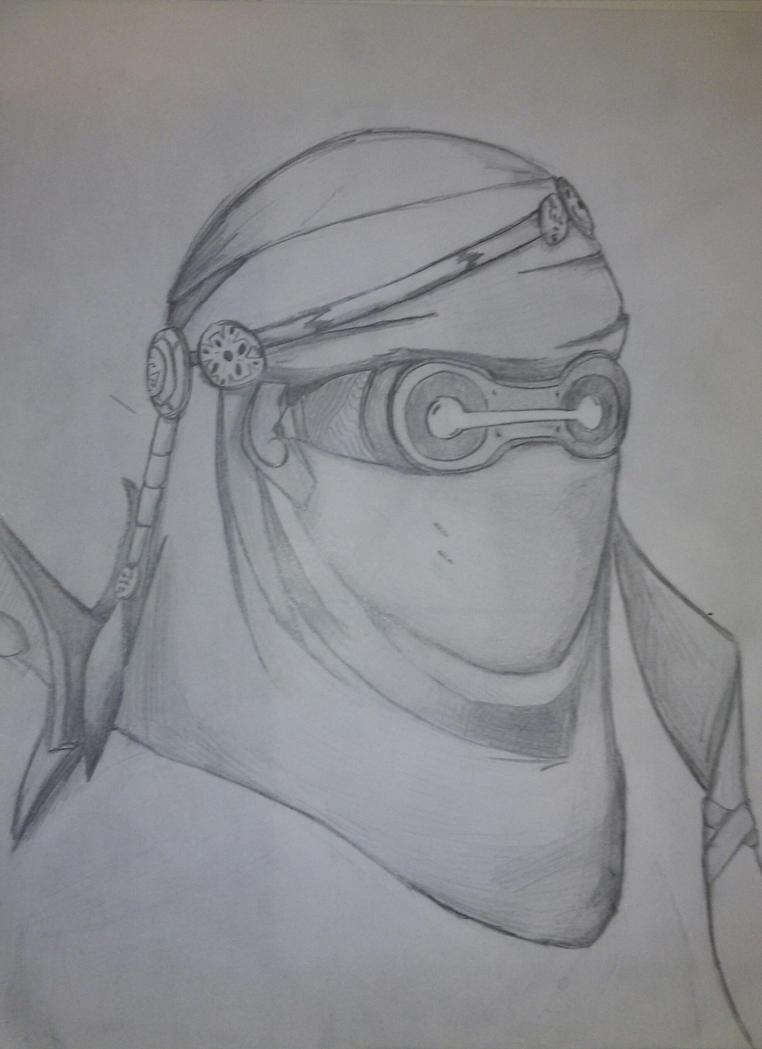 how to draw genji head