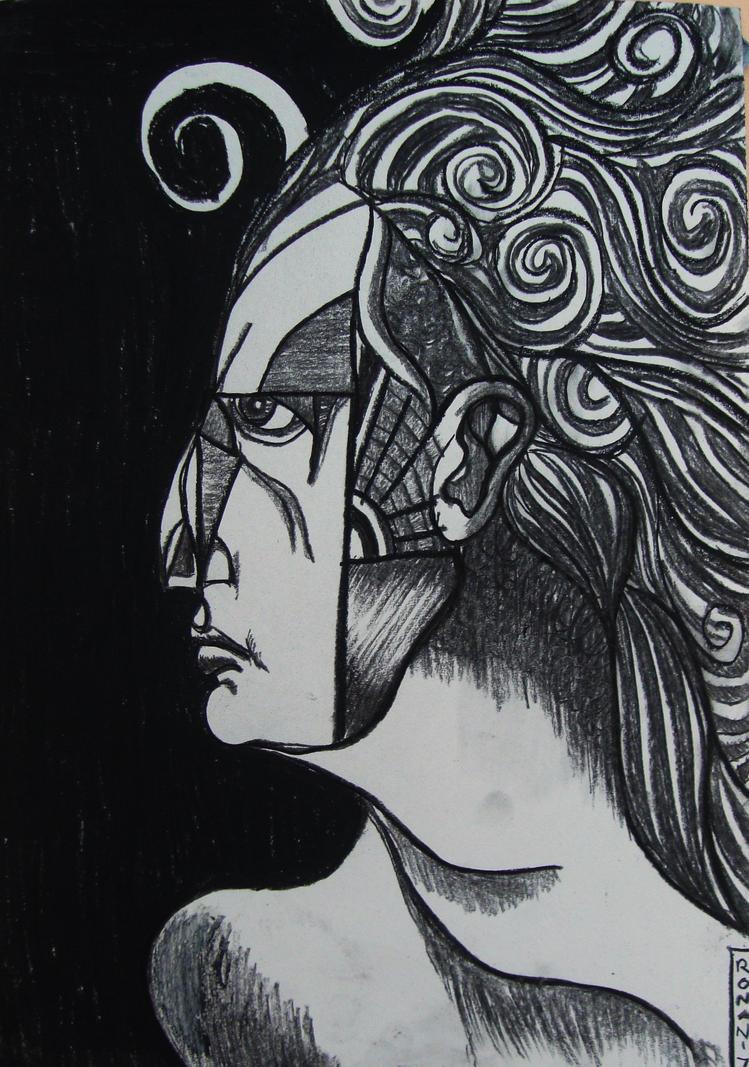 profile of a woman by crowleyronan