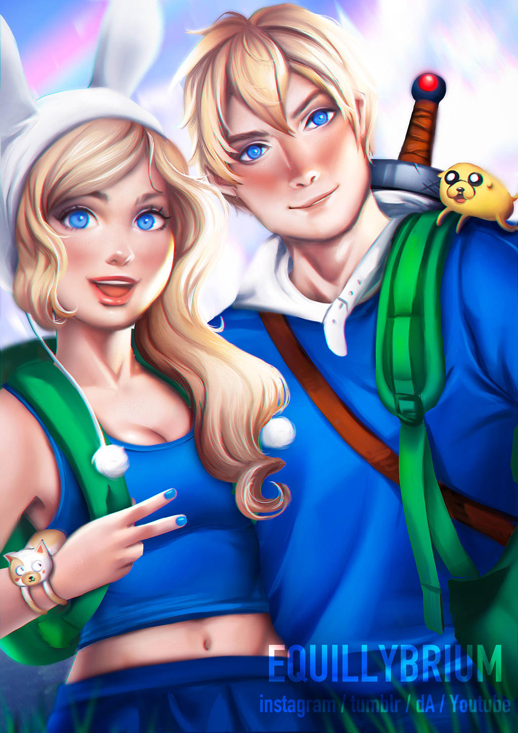 Fionna and Finn (Adventure Time) by equillybrium