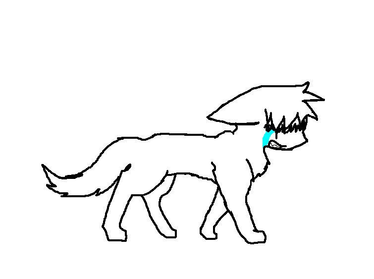 Wolf Lineart : Crying wolf lineart by shadowthebuneary on deviantart