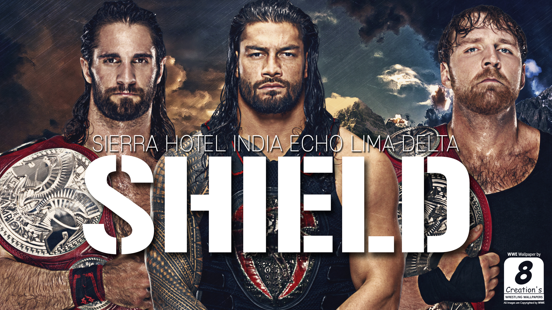Cool the shield wwe wallpaper for Cool wwe pictures