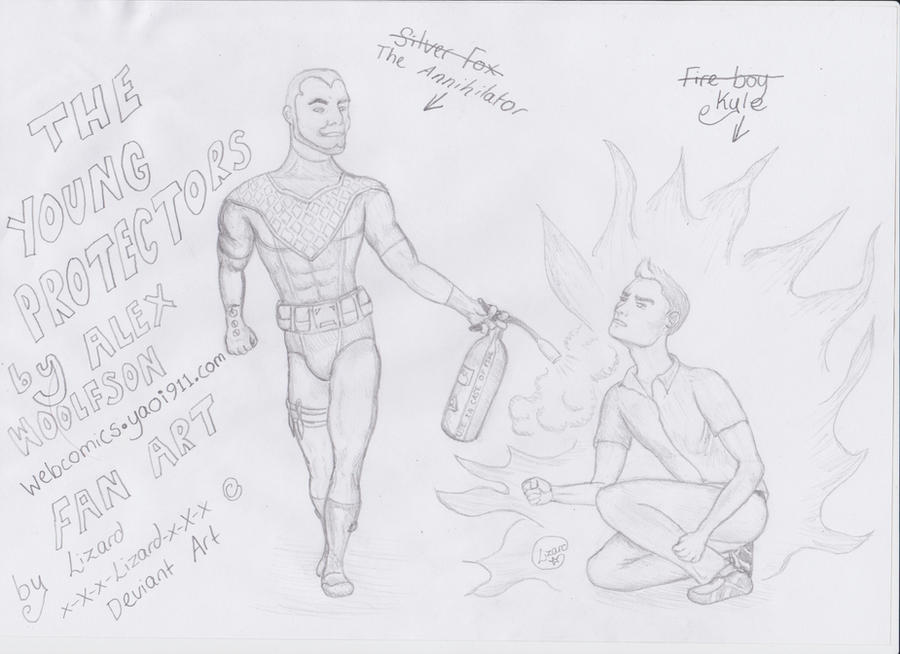 The Young Protectors Fan Art Annihilator and Kyle by x-X-x-Lizard-x-X-x