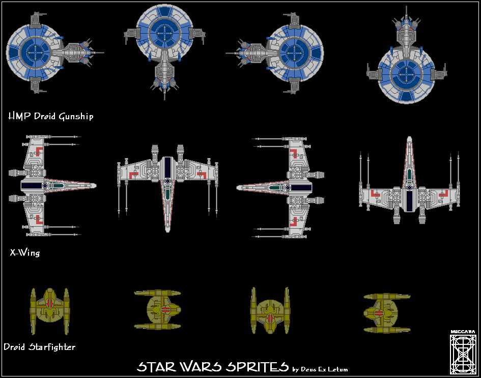 Star Wars Starfighter Sprites by Deus-Ex-Letum
