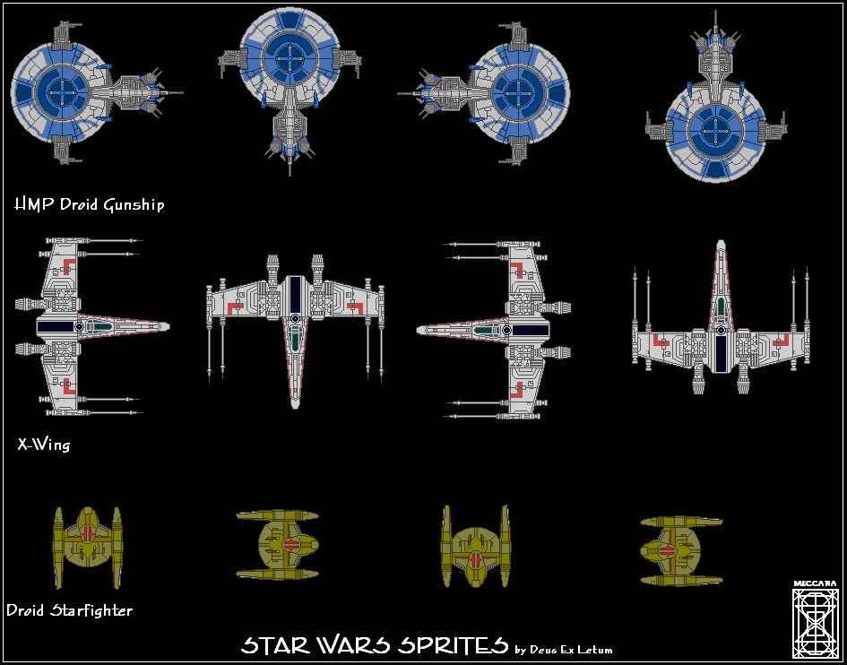 Star Wars Starfighter Sprites by Deus-Ex-Letum