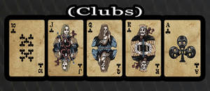 Haunted Cards - Clubs