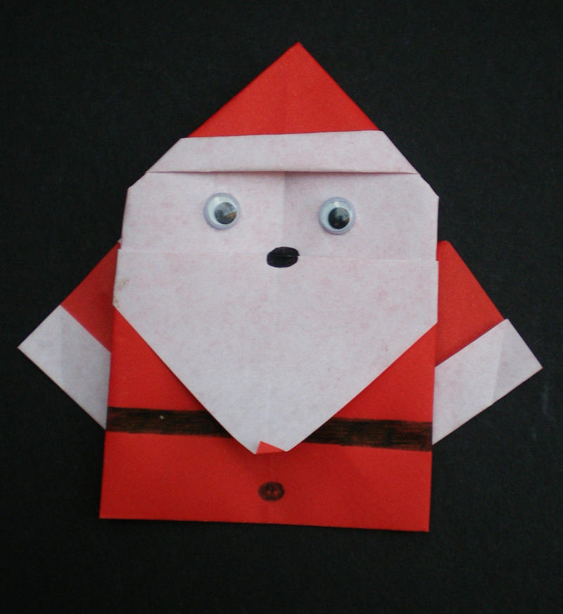 Santa Origami By Helenarothschild On Deviantart