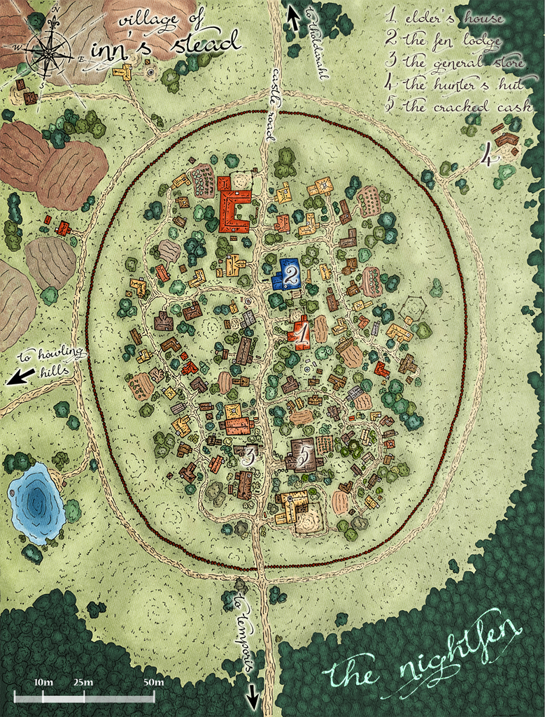 Inn'Stead - DnD Town Map by Madwing
