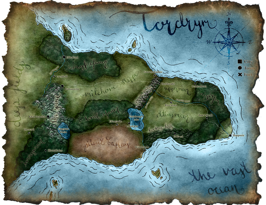 Tordrym - DnD Kingdom Map by Madwing