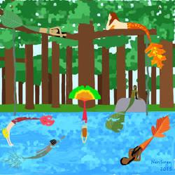 Mermaid Forest by NeriSiren