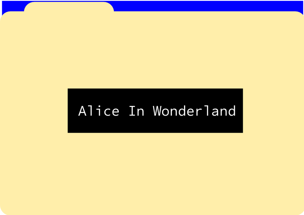 Alice in Wonderland Title Page by Persian-Yank
