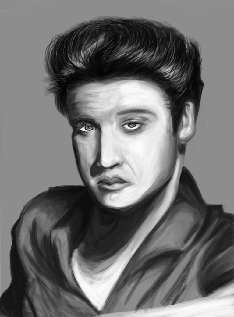 Elvisportrait by Comic-Cywink