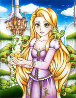 Disney's Rapunzel Fanart by MyCandyGirl