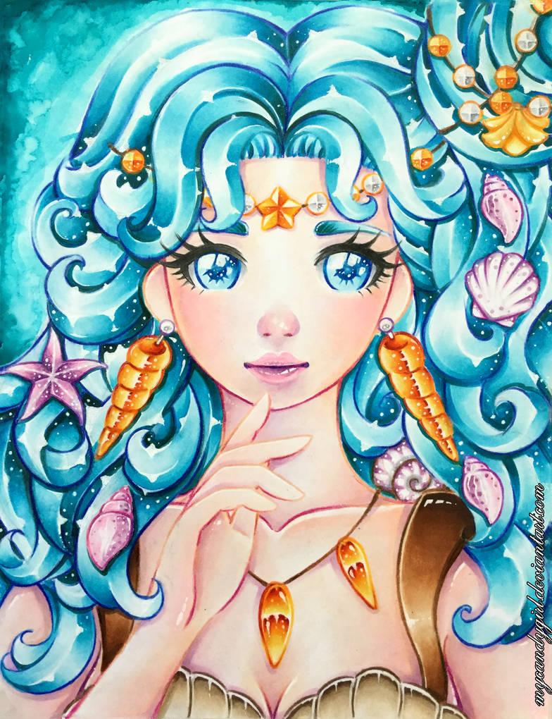 Molly Mermaid Portrait - Semi Realistic Ver