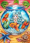 Molly Mermaid Chibi OC - Goldish Bowl