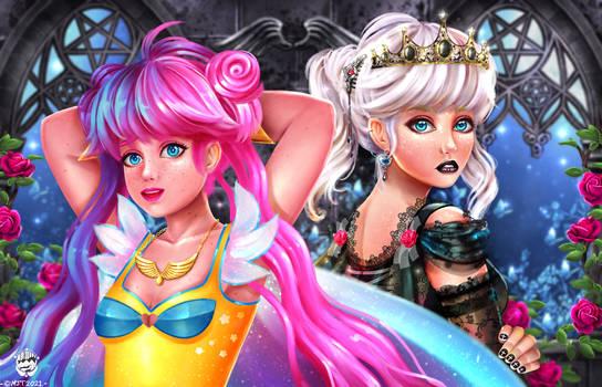 Aurora and Starre OC Portrait