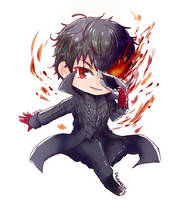 Persona 5 - Protagonist chibi by kuromochi