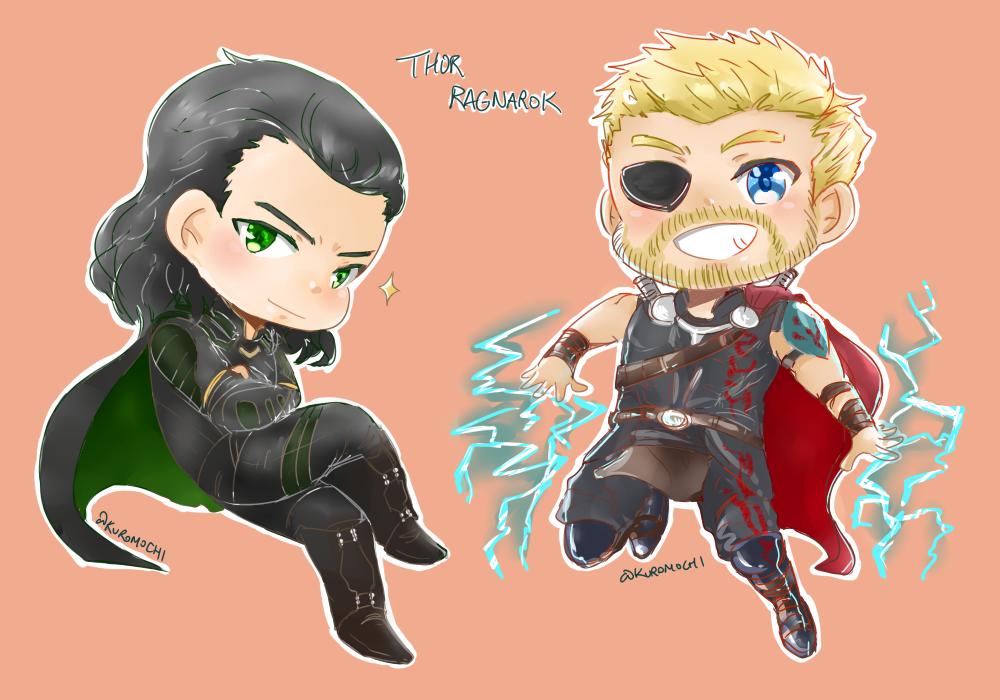Thor Ragnarok Thor Loki Chibi By Kuromochi On Deviantart