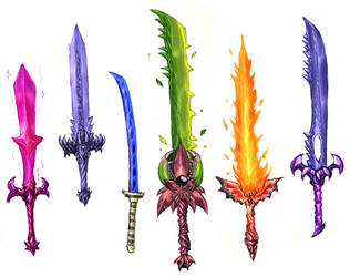 Terrarian Swords by Daimera