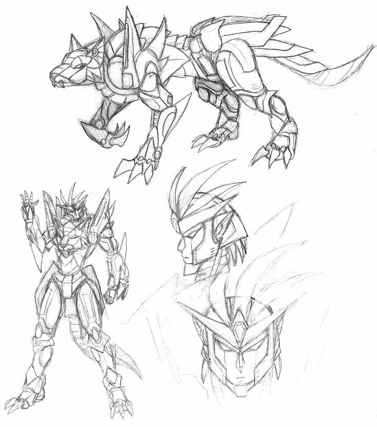 Wolf Yuushabot Concept by Daimera