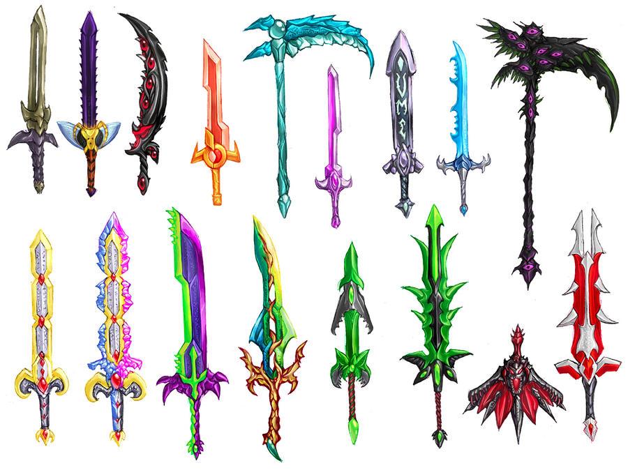 Как создать в террарии мечи