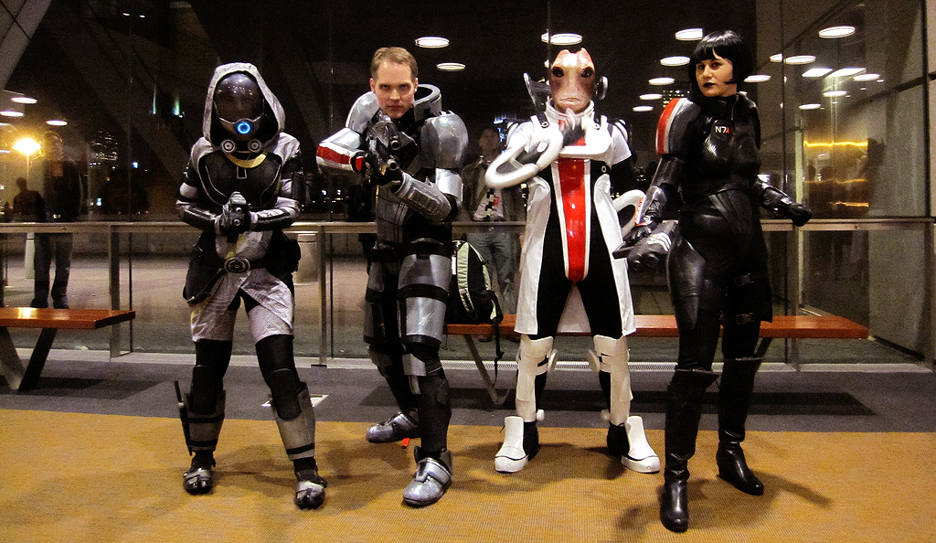 The Mass Effect Crew + Guest by Danosuke