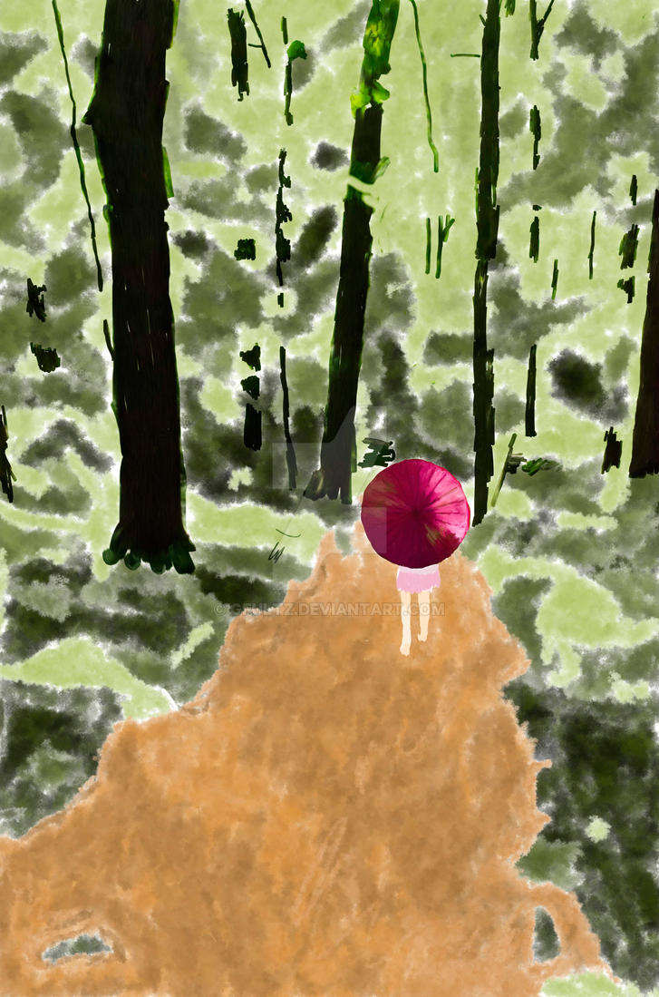 Girl in woods by GFultz