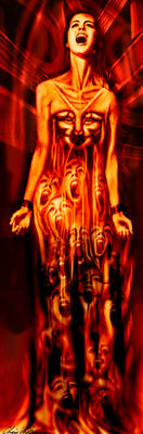The Fiery Scream by mental-awareness