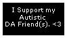 Autistic DA Friend Stamp by GaneneTheInkling