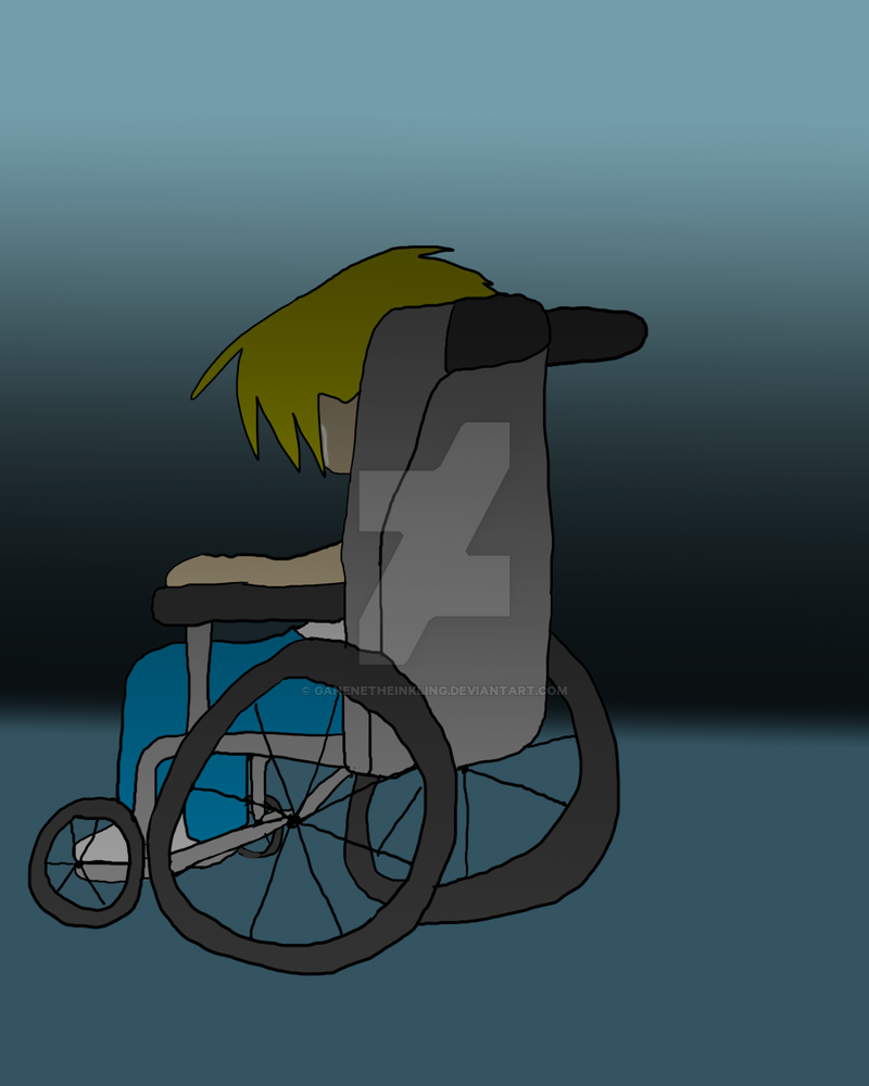 A lonely disabled person. by GaneneTheDefendra