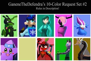 GanenetheDefendra's Ten-Color Request Set #2
