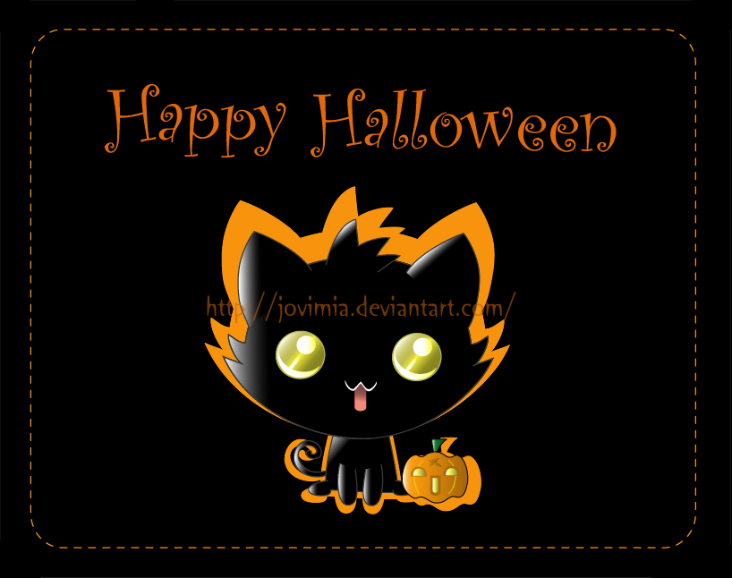 Halloween kitten by Jovimia