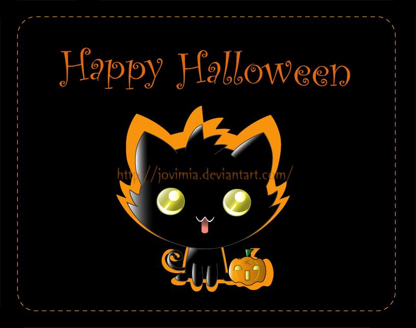 Halloween kitten by Jovimia
