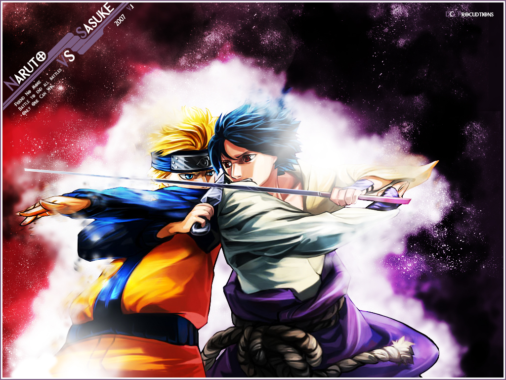 Naruto Vs Sasuke Wallpaper by demoncloud