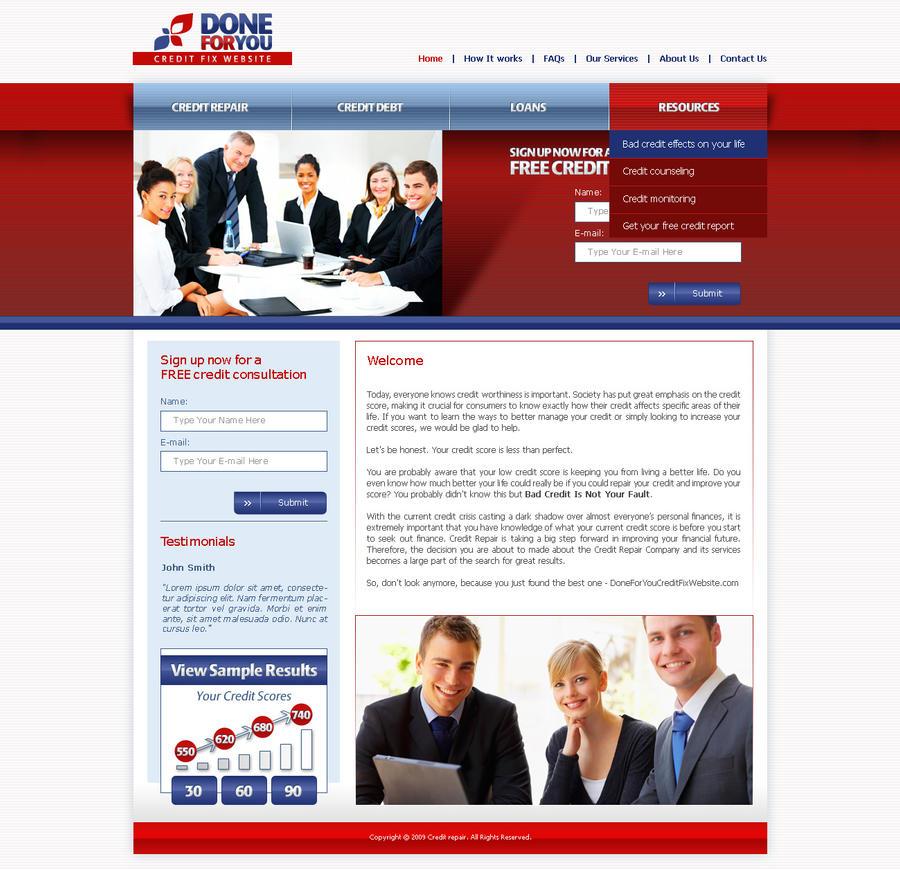 CreditRepair Website Template By Djnickk On DeviantArt - Credit repair website template
