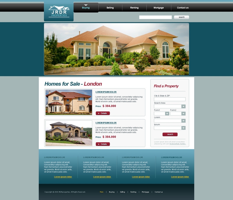 Homes for sale website design by djnick2k on deviantart for Home design websites