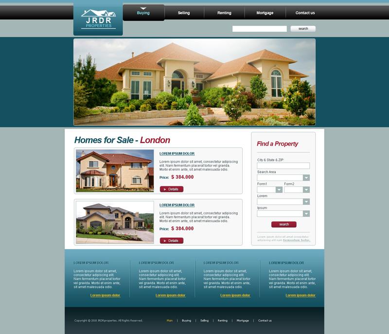 Homes for sale website design by djnick2k on DeviantArt