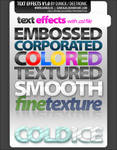 Text effects layered PSD file