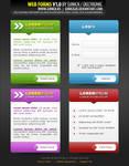 Web Forms V1.0 layered PSD