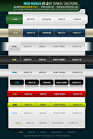 Web Menus - layered PSD file